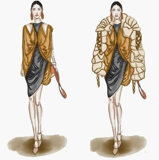 איור: קארין קארוצ׳י, שנקר. Efifo - מגזין האופנה של ישראל
