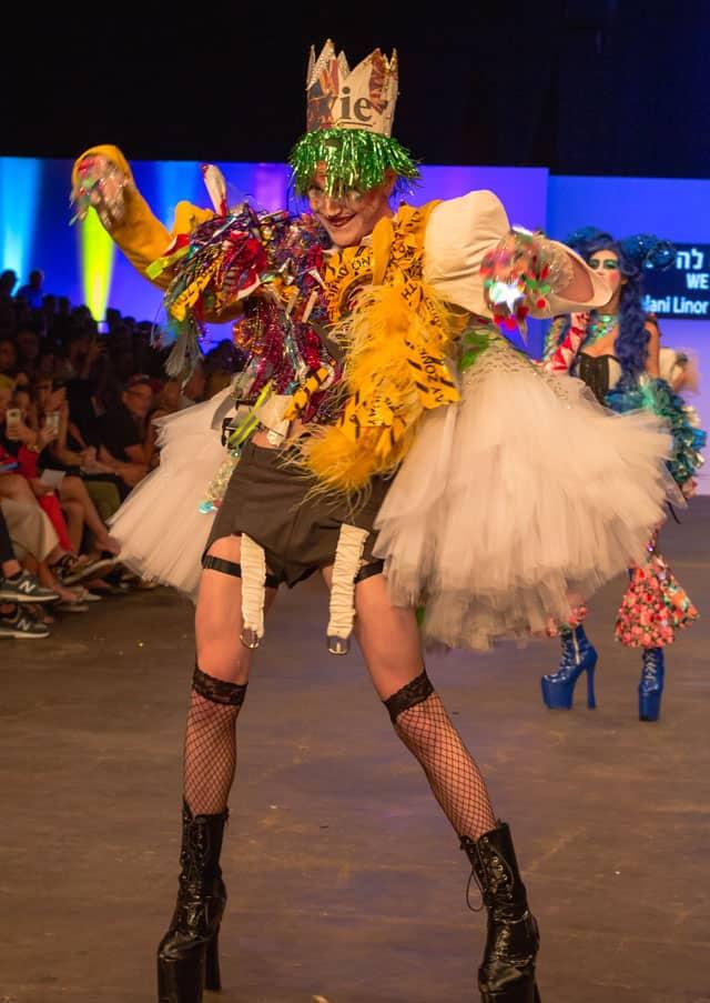 לינור קהלני, Linor Kahlani, קולקציות הגמר של המחלקה לעיצוב אופנה שנקר 2018. צילום: בן לאון