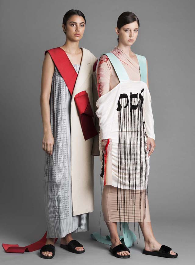 בצילום: עיצוב אופנה במרכז האקדמי ויצו חיפה. עיצוב אופנה: מורג שנקר. צילום: שיר סספורטס