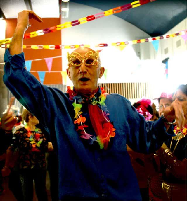 פורים 2018. צילומי מסיבת פורים של קשישים במרכז גונדה. צילום: יונתן אזולאי - 2