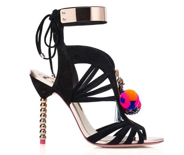 נעלי סטילטו Yasmina Pom Pom של סופיה וובסטר. צילום: יח״צ