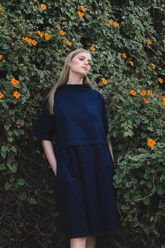 שמלת אליס אינדיגו, קימקה סטודיו 2018, צילום- ליאור והדס