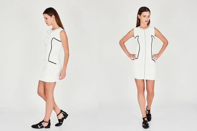 שמלת כותנה לבנה עם פס. צילום: יח״צ