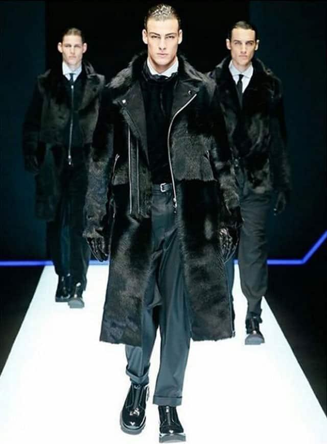 שבוע האופנה לגברים מילאנו. אימפוריו ארמאני. צילום: אינסטגרם