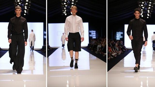 תצוגת אופנה של שבוע האופנה תל אביב. אריאל בסן. צילום: אבי ולדמן -1