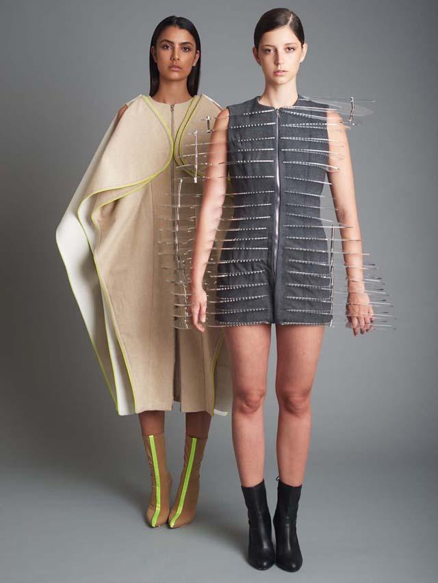 בתמונה: תצוגת בוגרים 2017, המחלקה לעיצוב אופנה במרכז האקדמי ויצו חיפה. עיצוב אופנה: בטסבה אלקובי. צילום: מיכה קיזנר