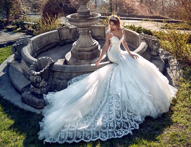 בצילום: שמלת כלה של גליה להב. צילום יחצ (2)