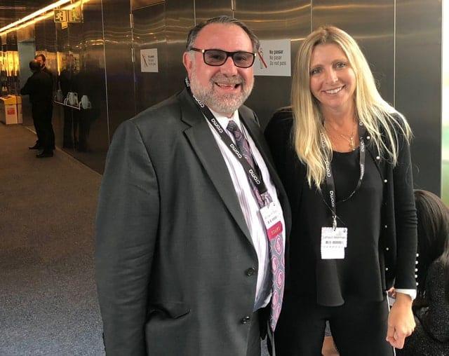 ד״ר להבית אקרמן ופרופסור מייקל גולד בכנס העולמי באירופה על לייזר ואנטיאייגנג. צילום: יח״צ
