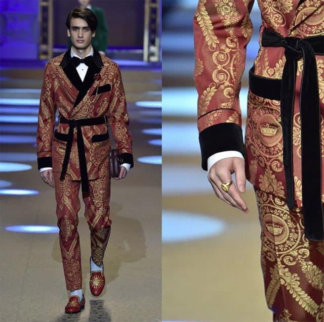 תצוגת אופנה של דולצ'ה וגבאנה בשבוע האופנה לגברים מילאנו. צילום: אינסטגרם