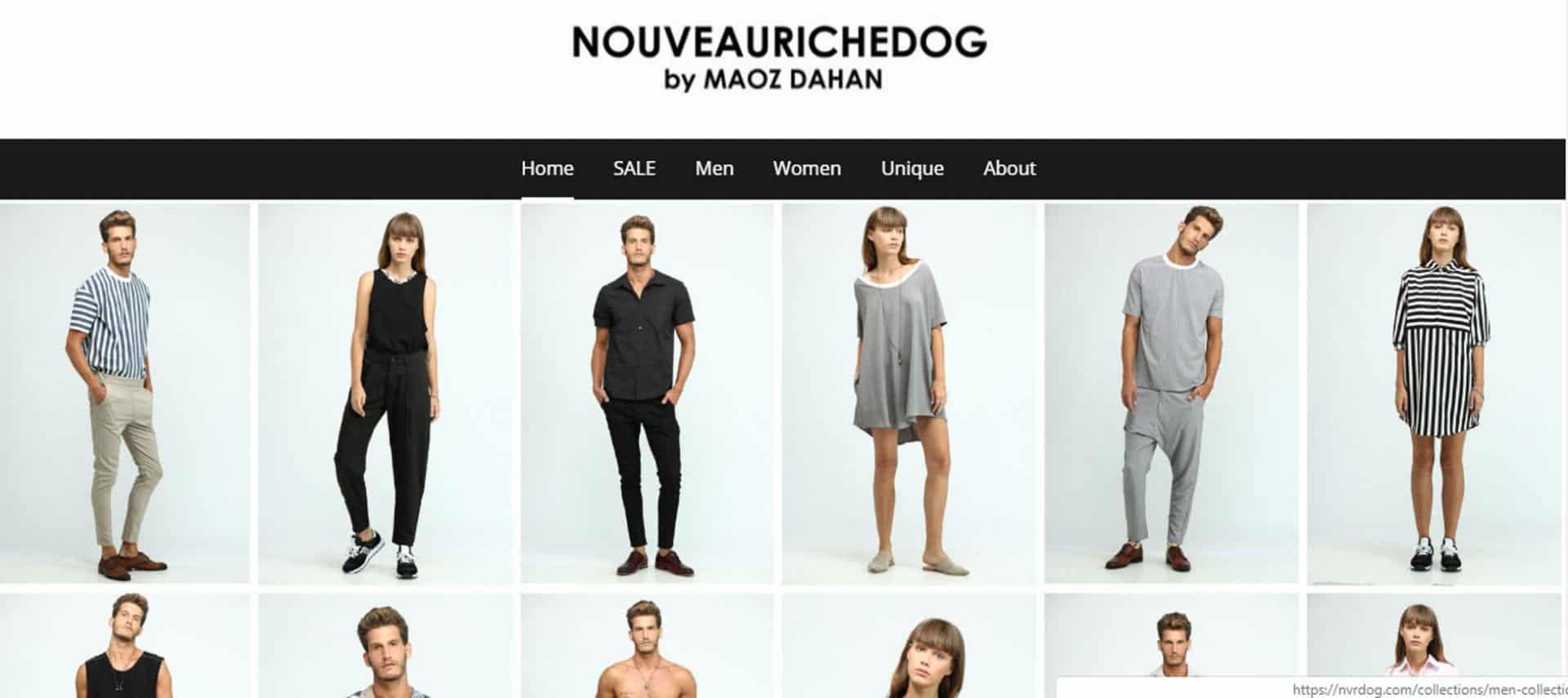 חדש. אתר מכירה של מעוז דהאן למותג Nouveariche dog