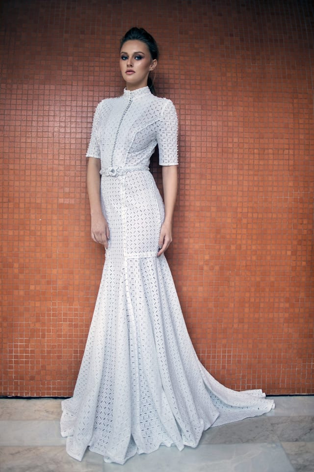 בצילום: שמלת כלה של ים יאגודייב צילום רונן פדידה