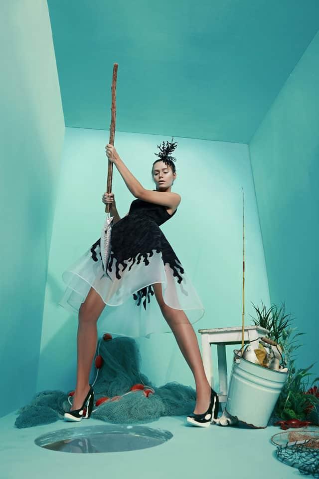 בצילום: שמלה של מאור צבר. צילום: הילה שייר - 9