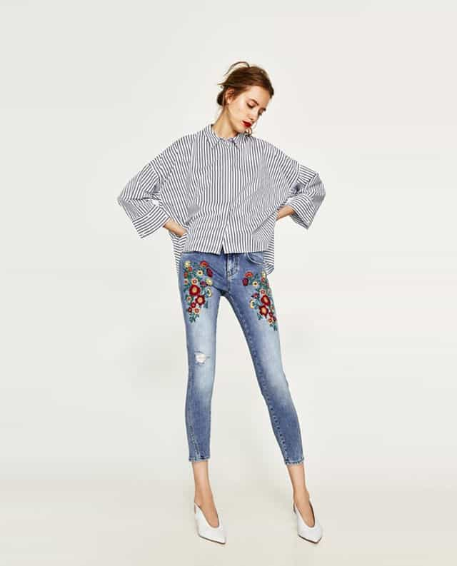 מכנסי ג'ינס סקיני של זארה. צילום: יח״צ חו״ל
