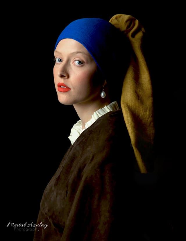 בצילום: ״נערה עם עגיל פנינה״. צילום: מיטל אולאי
