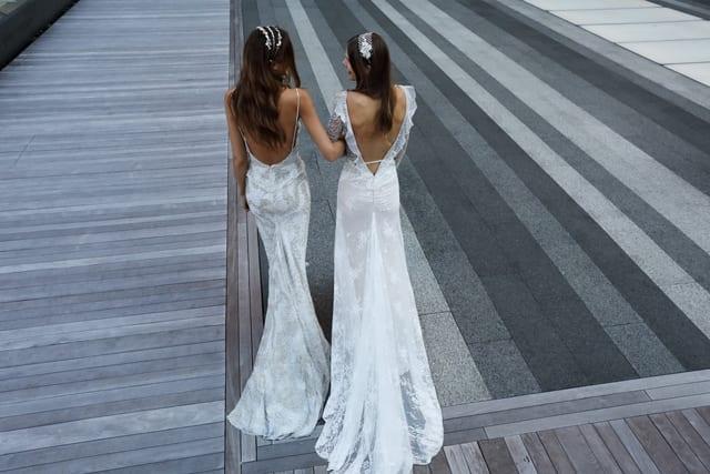 בצילום: שמלת כלה של ענבל דרור, צילום: אייל נבו