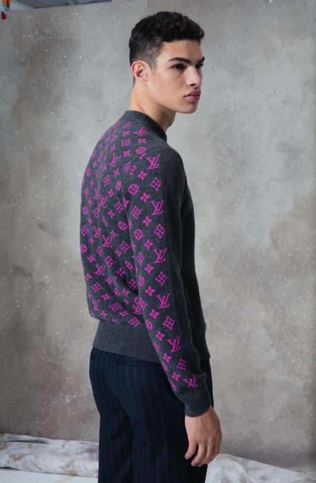 קולקציית בגדי הגברים לחורף 2018-2019 ל-Louis Vuitton בעיצובו של המנהל האמנותי קים ג'ונס. צילום: לואי ויטון מלטייר, אופנת גברים, בגדי גברים, אופנה, מגזין אופנה, מגזין אופנה ישראלי - 12
