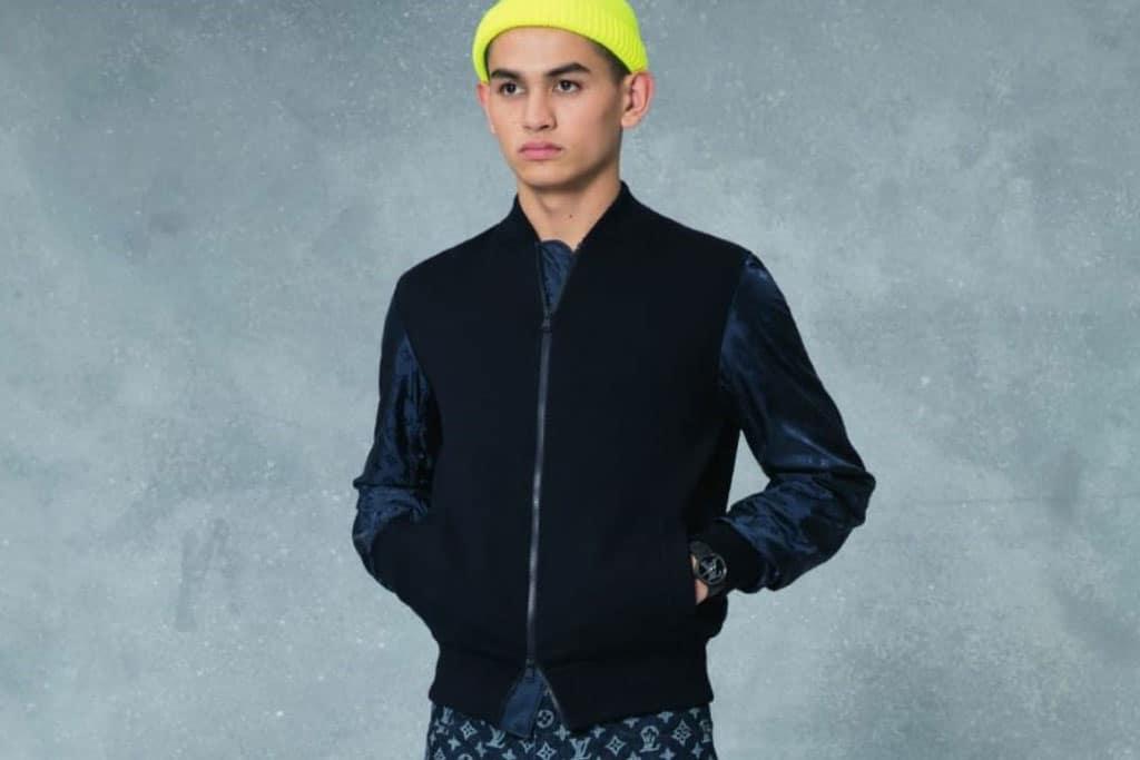 קולקציית בגדי הגברים לחורף 2018-2019 ל-Louis Vuitton בעיצובו של המנהל האמנותי קים ג'ונס. צילום: לואי ויטון מלטייר, אופנת גברים, בגדי גברים, אופנה, מגזין אופנה, מגזין אופנה ישראלי - 2