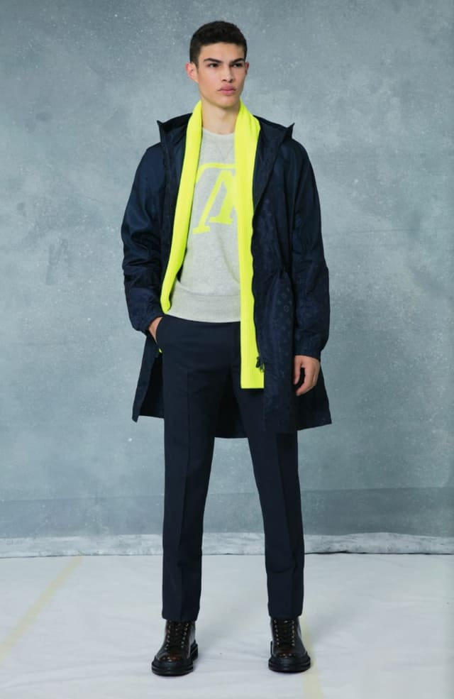 קולקציית בגדי הגברים לחורף 2018-2019 ל-Louis Vuitton בעיצובו של המנהל האמנותי קים ג'ונס. צילום: לואי ויטון מלטייר, אופנת גברים, בגדי גברים, אופנה, מגזין אופנה, מגזין אופנה ישראלי - 9
