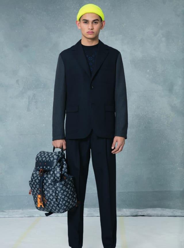 קולקציית בגדי הגברים לחורף 2018-2019 ל-Louis Vuitton בעיצובו של המנהל האמנותי קים ג'ונס. צילום: לואי ויטון מלטייר, אופנת גברים, בגדי גברים, אופנה, מגזין אופנה, מגזין אופנה ישראלי - 7