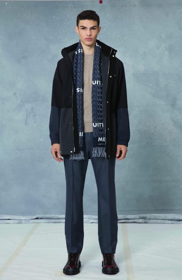 קולקציית בגדי הגברים לחורף 2018-2019 ל-Louis Vuitton בעיצובו של המנהל האמנותי קים ג'ונס. צילום: לואי ויטון מלטייר, אופנת גברים, בגדי גברים, אופנה, מגזין אופנה, מגזין אופנה ישראלי -