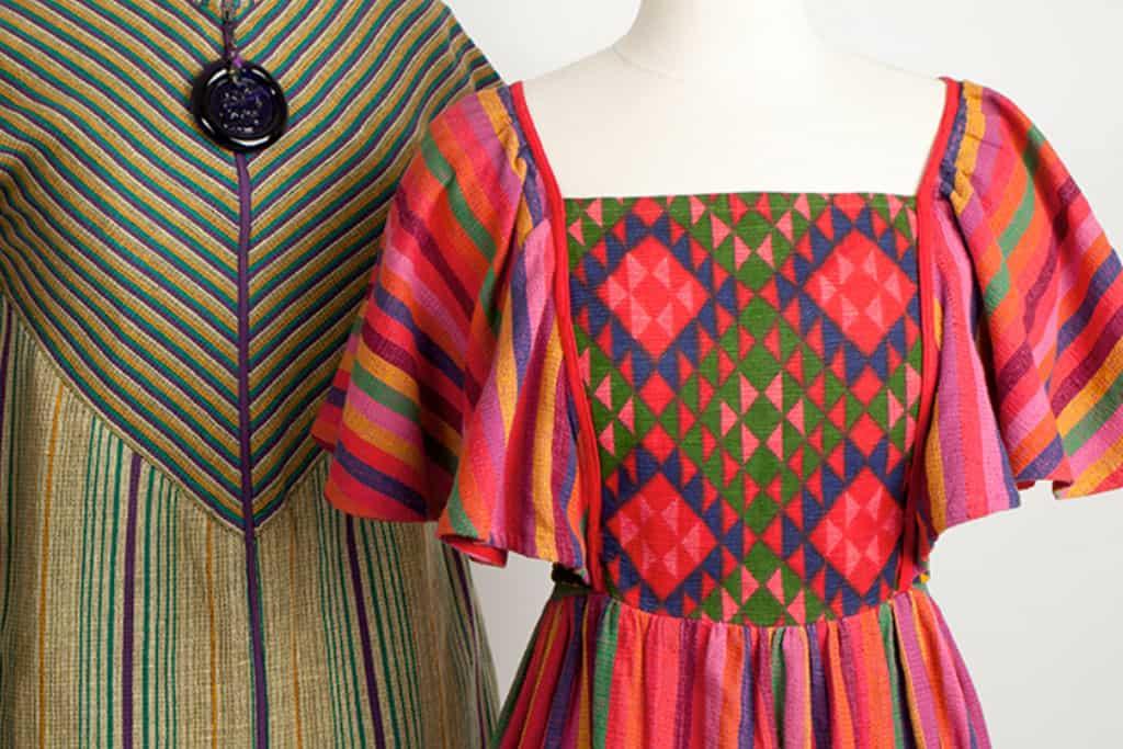עיצוב שמלה: רוז'י בן יוסף, שנות ה-70. ארכיון האופנה והטקסטיל של שנקר