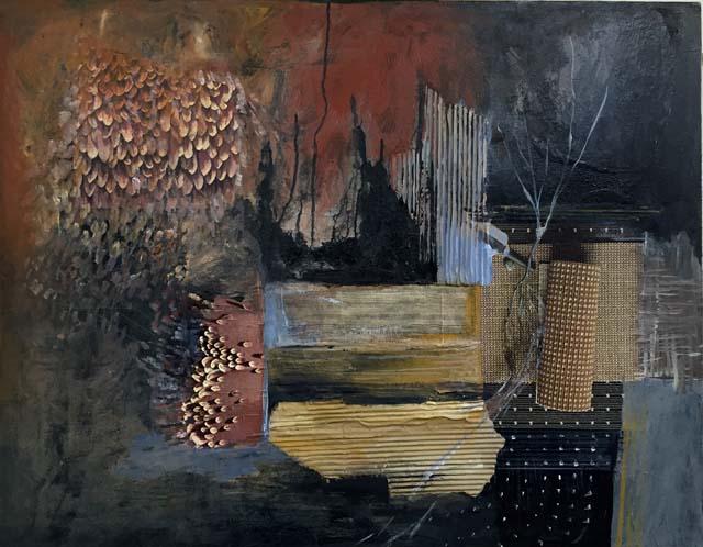 בצילום: עבודה של רונית צובנר. גלריית האמנים בקניון רמת אביב. צילום יחצ 9