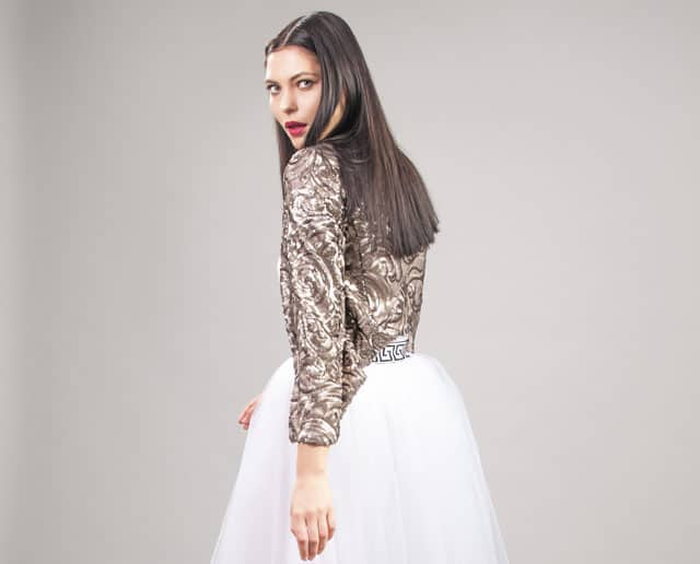 שמלה צנועה של Monirage. צילום: גיא דויטש - 1