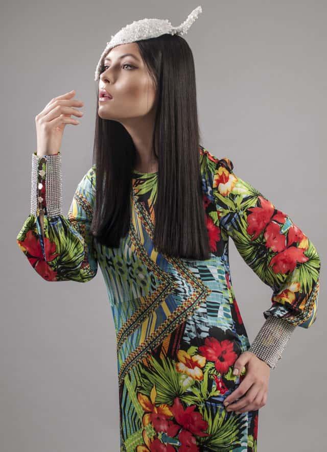 שמלה צנועה של Monirage. צילום: גיא דויטש - 2