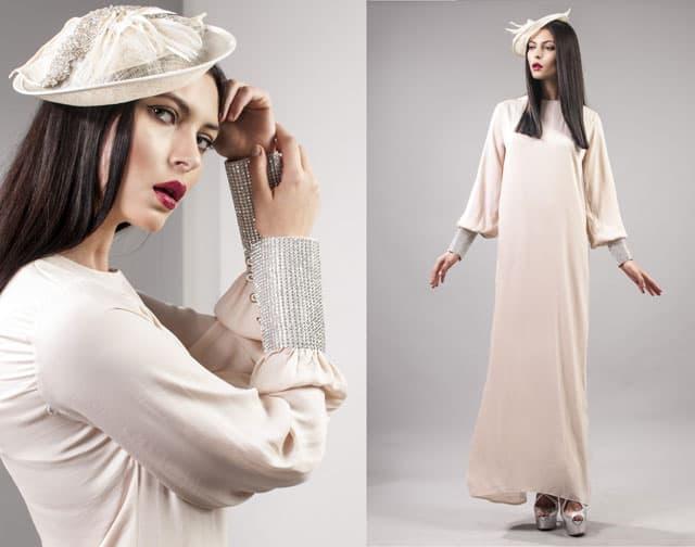 שמלה צנועה של Monirage. צילום: גיא דויטש - 3
