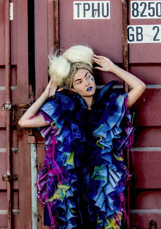 עיצוב אופנה: דניאל נאווי -Shenkar | שנקר, איפור: דידי פז, עיצוב שיער: שרון פור, צילום: גלעד קבלרו, סטיילינג: אלינה פייס, הפקה: אפי אליסי -Efifo, דוגמנית:Olya ל-MC2 Model Management -3