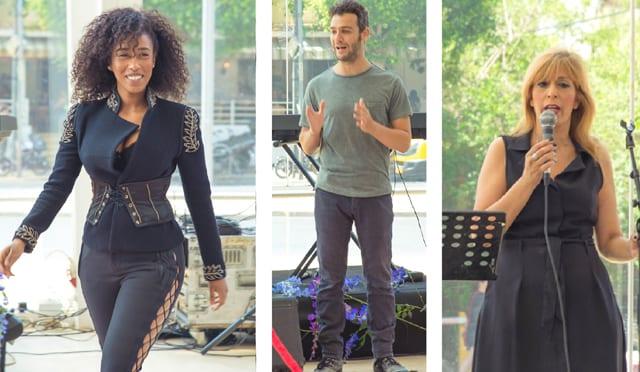 מימין: מנכ״לית הבימה,אודליה פרידמן, יואב דונט, אושרת אינדגשט. צילום: דביר גיחז. Fashion Israel - מגזין אופנה של ישראל
