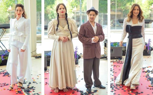בתיאטרון הבימה בתצוגת אופנה: ״היפוך מגדרי״ בשיתוף המרכז הגאה, efifo, אתר אופנה.  <a href=
