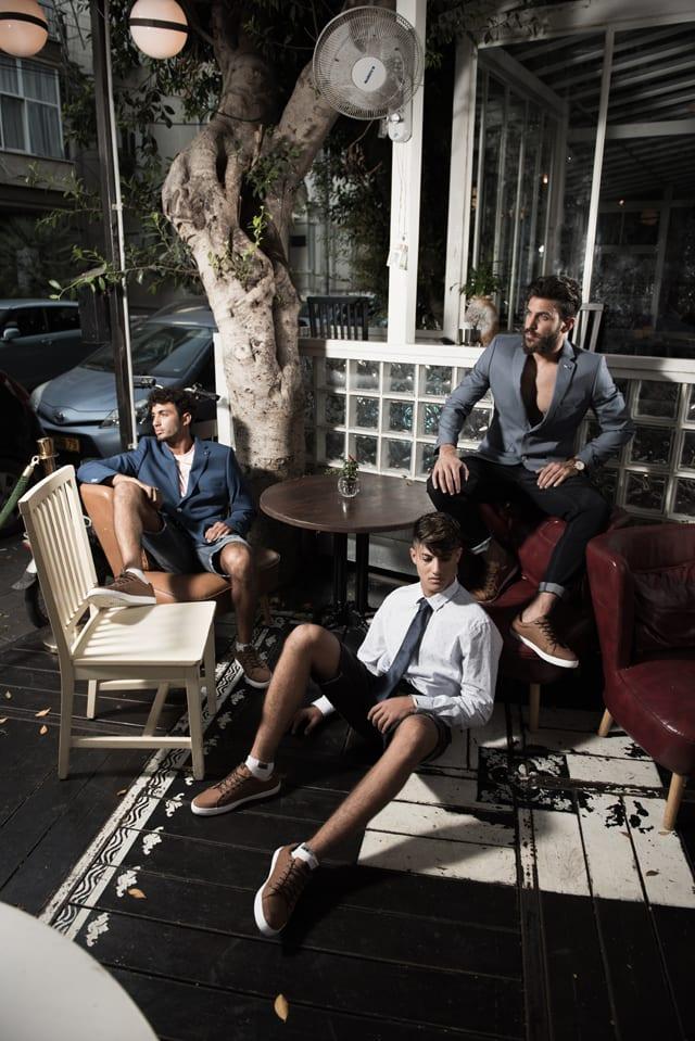 בצילום: חולצה מכופתרת ושורט: קסטרו, עניבה: בגיר, נעליים: פול אנד בר. סלמן - בלייזר ומכנסיים: בגיר, נעליים: פול אנד בר