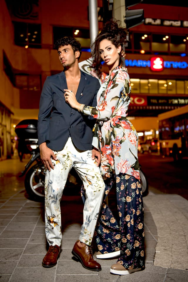 תאלין - שמלה: זארה, מכנסיים: המשביר לצרכן, תכשיטים: הבורסה ליהלומים, נעליים: יונייטד ניוד. אסיל - בלייזר: בגיר, מכנסיים: זארה, נעליים: נעלי גלי