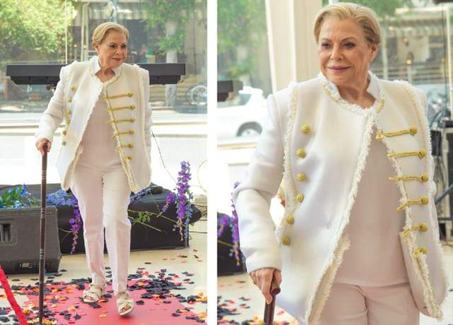 גילה אלמגור בתיאטרון הבימה בתצוגת אופנה: ״היפוך מגדרי״ בשיתוף המרכז הגאה, efifo, אתר אופנה. צילום: דביר גיחז -12