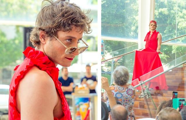 מיכאל אלוני בתיאטרון הבימה בתצוגת אופנה: ״היפוך מגדרי״ בשיתוף המרכז הגאה, efifo, אתר אופנה. צילום: דביר גיחז - 12