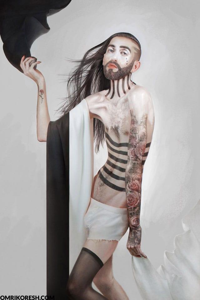 """בתמונה: נונה שלאנט. עומרי קורש (Freaks like me"""". (Omri Koresh"""""""