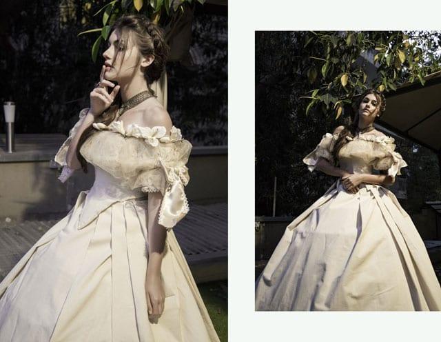 שנקר ,EFIFO ,The Diaghilev, עיצוב אופנה, אופנה, טרנד, סטייל, הדס סולומון, מארי אנטואנט, קוקו שאנל, אודרי הפבורן, שמלות תקופתיות, שמלות מימי הביניים, שמלות הוט קוטור שמלת הוט קוטור, צילום אופנה,