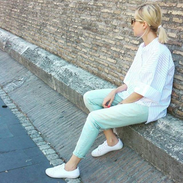 בתמונה: יולי קופיט, בוגרת תואר לעיצוב אופנה, במרכז האקדמי ויצו חיפה.