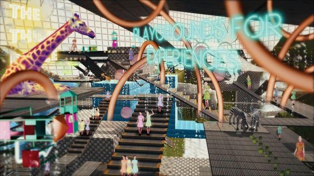 שבוע העיצוב ירושלים 2017: אליסון קראנק. קניון עתידני. צילום מסך