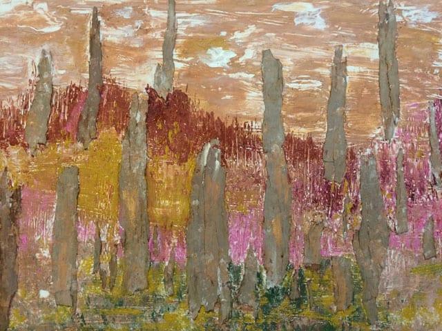 בתמונה: ציור של האמנית לאה צבעוני. צילום: יח״צ -7