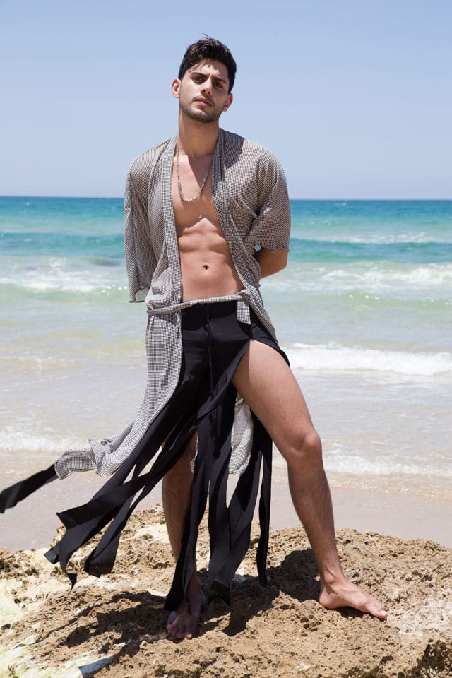 Men Fashion: Photography: Anael Achwartz, Styling: Katy Minevich, Model: Tal Moshe, Fashion: Israel Designers Guild, אנאל שוורץ, קטי מינביץ׳, טל משה, גילדת המעצבים דיזינגוף סנטר - 5