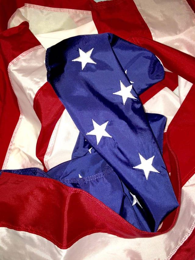 לירון צומן, דגל ארה״ב בהשראת ״דגל ארה״ב הפוך״ 1975, של פנחס כהן גן, 2015