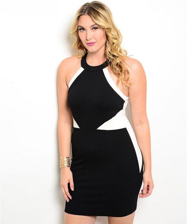 שמלה שחורה למידות גדולות