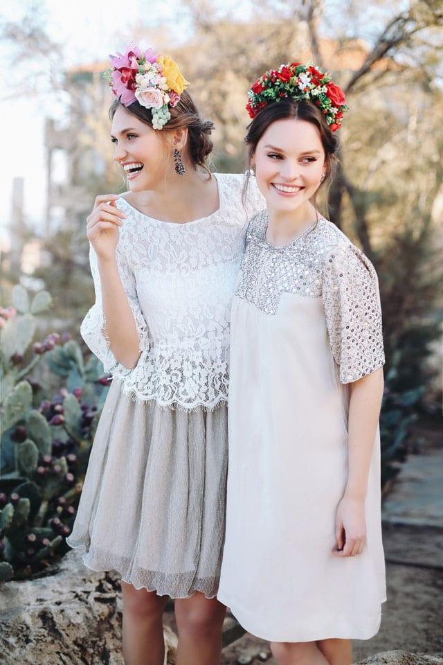 EFIFO אתר אופנה, שדה בר. שמלת כלה: 399 שקל. חולצה: 159 שקל. חצאית: 159 שקל. צילםם אלה אוזן
