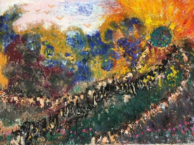בתמונה: ציור של האמנית לאה צבעוני. צילום: יח״צ -4