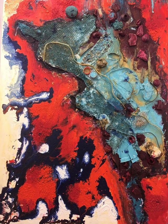 בתמונה: ציור של האמנית לאה צבעוני. צילום: יח״צ -3