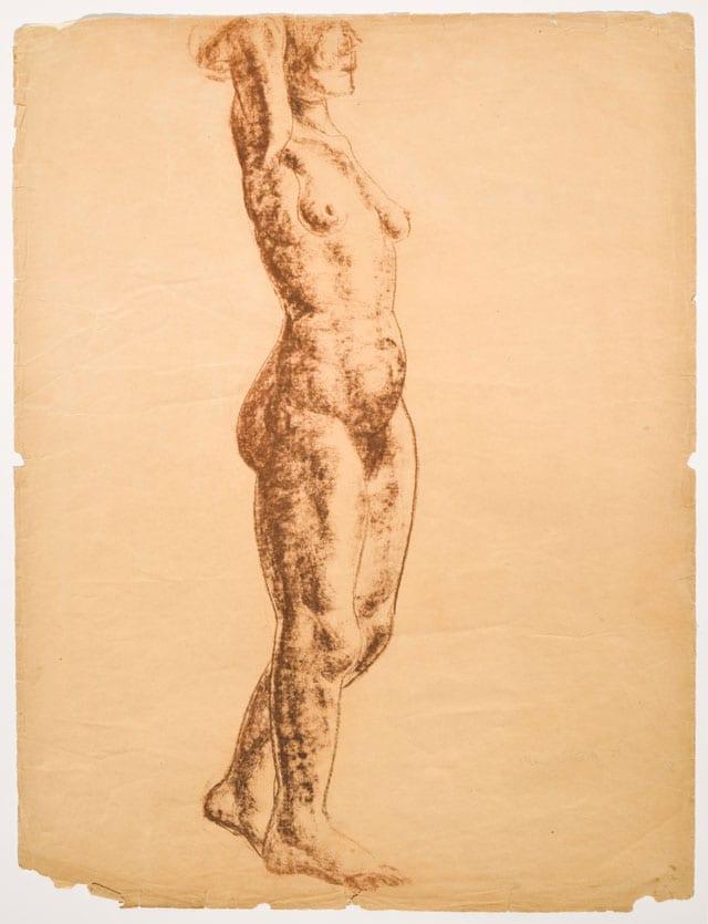 מאנה כץ. עבודה מתוך התערוכה: ״חנה אורלוף - פיסול פמיניסטי בישראל״ במוזיאון מאנה-כץ-מוזיאוני חיפה