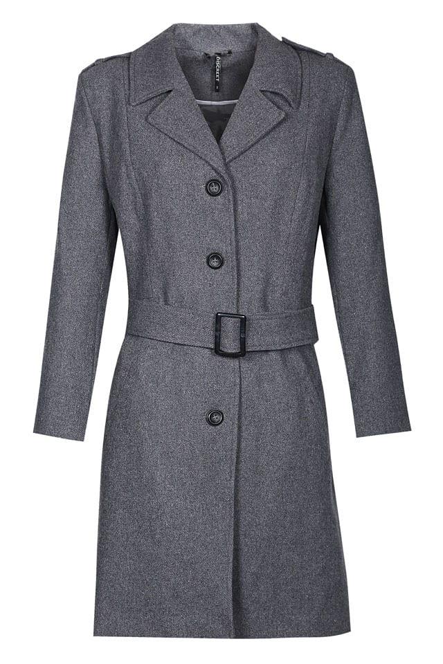 רשת האופנה דיסקרט מעיל צמר מדלן 339.90 אפור צילום דימה קרמינסקי - 1