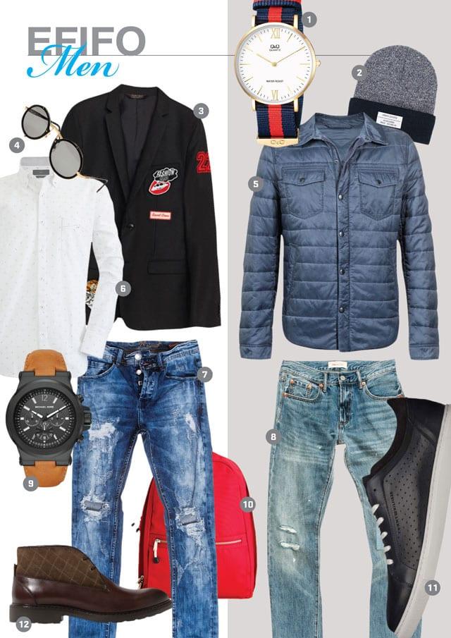 EFIFO. מגזין אופנה. MEN'S SHOPPING#12#16-15